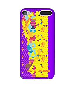 Stripes And Elephant Print-39 Apple iPod Touch (6th Generation) Case