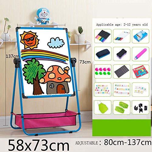 BIGLOVE Magnet Standtafel Kunststoff Multifunktional Einfach zusammenzubauen Standkindertafel Schreibtafel,Geeignet für 3-8 Jahre altes Baby,H (1 Alt Bildungs-spielzeug Besten Jahr)