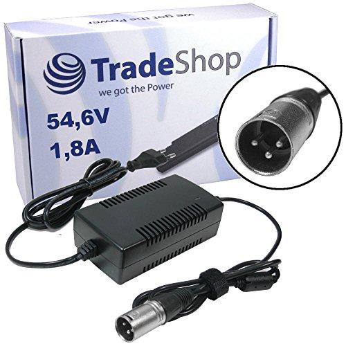 Preisvergleich Produktbild Trade-Shop Netzteil Ladegerät Ladekabel 54,6V 1,8A für 48V Akkus mit 3pin XLR Stecker Anschluss (18,5mm x 15,5mm) für E-Bike Elektrofahrrad Pedelec Elektro Fahrrad Akkus zum Aufladen