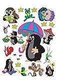 1art1 91453 Der Kleine Maulwurf - Compilation Wand-Tattoo Aufkleber Poster-Sticker 85 x 65 cm
