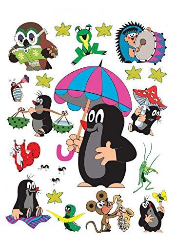 1art1 Der Kleine Maulwurf - Compilation Wand-Tattoo Aufkleber Poster-Sticker 85 x 65 cm