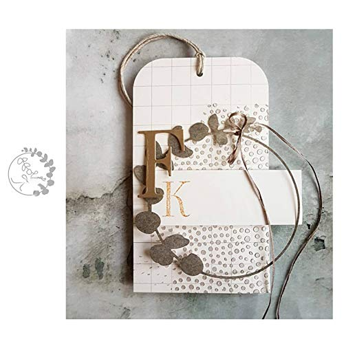 Kuizhiren1 Stanzformen DIY Stanzformen Stanzformen Blumen Ring Rahmen Metall DIY Scrapbooking Papier Karten Album Schablone - Silber