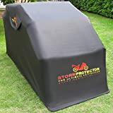 StormProtector® Motorradgarage Faltgarage Motorrad Motorrad-Ganzgarage Gehärteter Stahl - Wasserdichte Motorradabdeckung