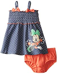 Disney Baby-Girls Newborn Minnie Mouse Sun Dress with Panty Set