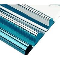 hoho 50cmx200cm Daytime privacidad ventana películas una manera espejo autoadhesivo calor Control Anti UV ventana tinte para hogar y oficina (azul)