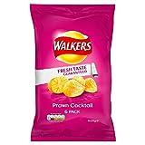 Walkers Prawn Les chips de cocktail 6 x 25g