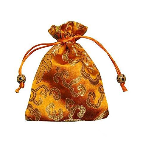 Modeschmuck Beutel Kordelzug Tuch Geschenkbeutel 10er-Gelb Gelb-hochzeit Bevorzugungen