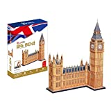 CubicFun 3D Puzzle UK Londen Big Ben World Great Architecture für lustiges Geschenk für Kinder und Erwachsene