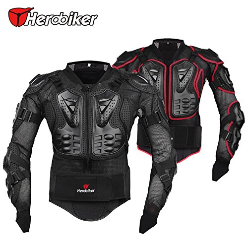 Motorbike Armour for Men, Body Armour Motorcross,Motorbike Full Body Armor Armour Protective Gear Racing Shirt Jacket Protector with Chest Back Protection