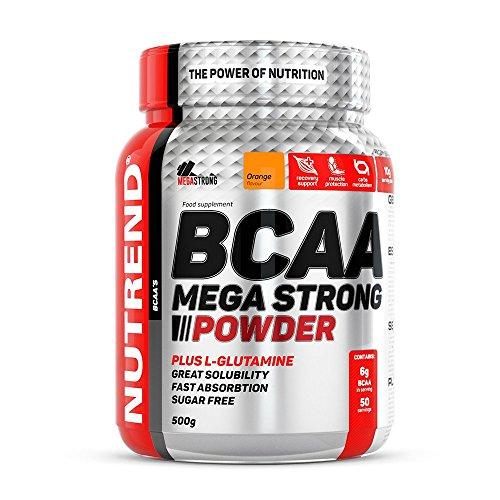 Nutrend BCAA MEGA PLUS STRONG POWDER L-glutamin 500g Ananasgeschmack Aminosäuren L-Leucin, L-Isoleucin und L-Valin-4: 1: 1-Verhältnis