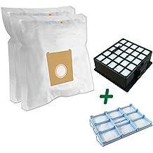 SUPER SET - Filtro HEPA + Filtro protector del motor + 10 Bolsas Para Aspiradoras BOSCH: BSGL 42280/01 GL-40 bagless, BSGL 42283/01 GL-40 bagless