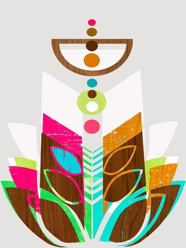 GreenBox Art + Culture Canvas Wall Art Modern Topiary II by Linda Ketelhut, 18 by 24-Inch