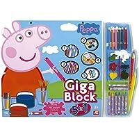 Peppa Pig - Giga Block Peppa Pig 5 en 1 (Cefatoys 21804)