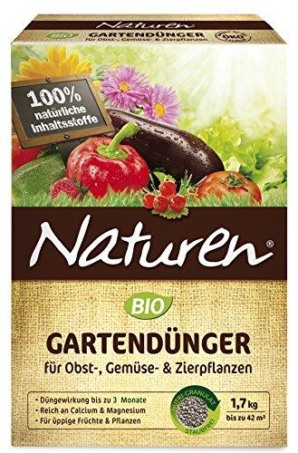 Naturen BIO Garten, Universal, natürlicher Volldünger für Obst- Gemüse und Zierpflanzen, 1,7 kg