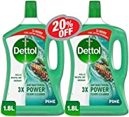 Dettol Pine Antibacterial Power Floor Cleaner 1.8L Twin Pack At 20% Off