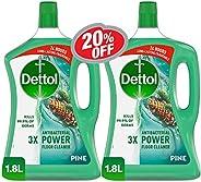 ديتول - منظف الأرضيات القوي المضاد للبكتيريا 1.8 لتر عبوة مزدوجة بنسبة 20%