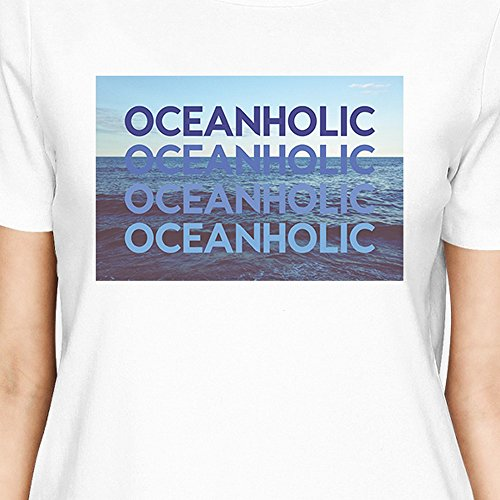 365 Printing - T-Shirt - Manches Courtes - Femme Oceanholic White Shirt