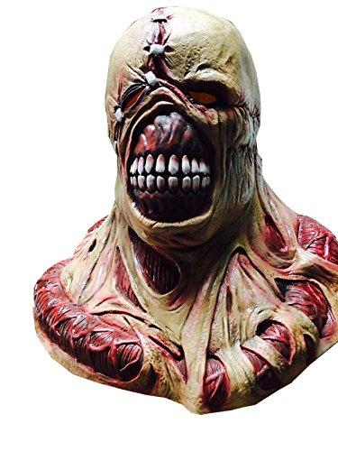 Nihiug Biochemische Krise Tyrant Cos Narben Zombie Tracker Horror Make-up Beherbergt Requisiten Schaum Kopf Prop Lange Nase Cosplay Fancy (Up Schaum Make Latex)