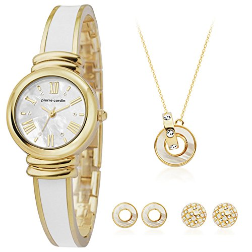 Pierre Cardin Watch Gift Set Jewelry Ladies Gold