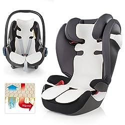 Plantilla transpirable para coche de bebé (universal, ideal para verano, reduce el sudor gracias a la circulación de aire, alternativa ideal a la funda de verano, gran calidad)