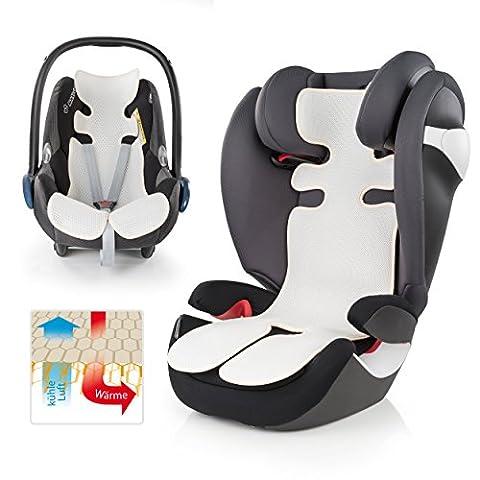 Tapis/coussin d'été universel respirant pour siège enfant de voiture et nacelle | réduit la transpiration de votre enfant–Refroidissement par circulation de l'air | Alternative idéale à la housse d'été | Qualité