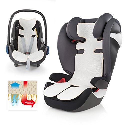 Atmungsaktive Universal Sommer-Sitzeinlage / Sitzauflage für Auto-Kindersitze und Babyschalen | verringert Schwitzen Ihres Kindes - kühlt durch Luftzirkulation | ideale Alternative zum Sommerbezug