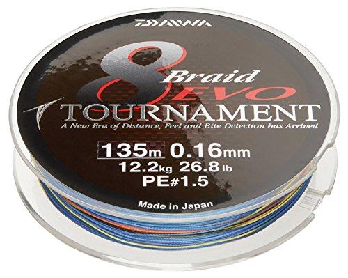 Daiwa Tournament 8 Braid EVO 300m multicolore - Ligne...
