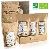 Cafe En Grano Natural  Caja Regalo Cafe 4x250g  Granos de Cafe Arabica, Tostado Artesanal
