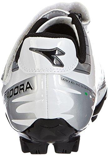 Diadora X PHANTOM Unisex-Erwachsene Radsportschuhe - Mountainbike Weiß (silber/weiß/schwarz 1573)