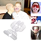 BESTOYARD Dental Mouth Opener Cheek Retractors for Mouthguard Challenge Game or Dentistry - Clear, Size M,12 Pcs
