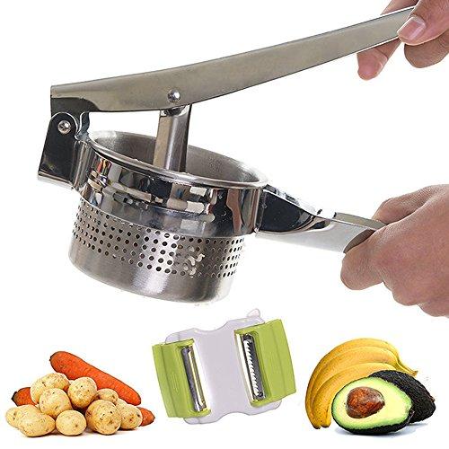 unicoco Kartoffelstampfer aus Edelstahl inadossibile für Verwendung in Küche