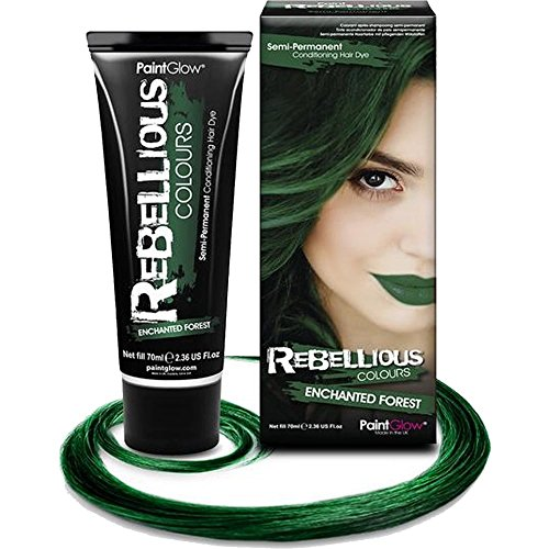 Paint Glow Rebellious Colours Semi-Permanent Conditioning Hair Dye 70ml-Enchanted Forest