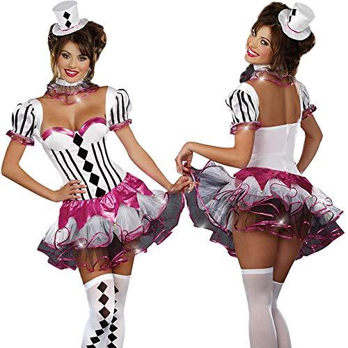 Xuhahafz costume di halloween/costume da circo/spettacolo / pagliaccio/ruolo / adulto/mago femminile/stadio, 4017, m