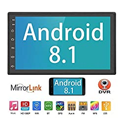 "Liehuzhekeji Android Auto Double Din FM Radio Universal Multimedia Player, 7"" HD 2.5D Bildschirm Stereo-Empfänger, Unterstützung Spiegel Link eingebaut Bluetooth WiFi/GPS/Navigation/Aux-in"