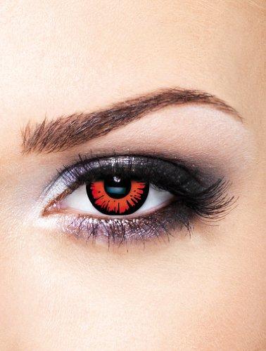 Edit farbige rote Twilight Breaking Dawn Movie Film Kontaktlinsen ohne Stärke für Halloween und (Für Halloween Schwarz Kontakte)
