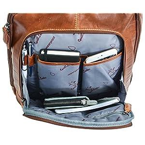 "51WnFkUSj9L. SS300  - Gusti Leder studio Niki Mochila Vintage de Cuero Auténtico Interior Impermeable Portátil 15,6"" Estilo Vintage Retro Unisex 2M40-20-2wp"