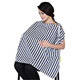 #3: Lula Mom Mother's Blue color Stripes Nursing/Feeding Cover