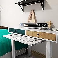 bandeja de teclado oficina cajones Slide moda mesa de ordenador Rail Rack accesorios