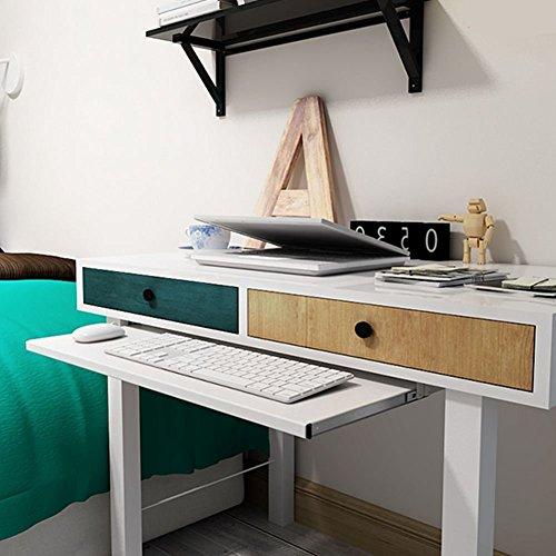 under-desk comfort tastiera cassetto piattaforme mobili ufficio porta tastiera scorrevole cassetti Fashion barre porta computer da tavolo, White, 28x11'