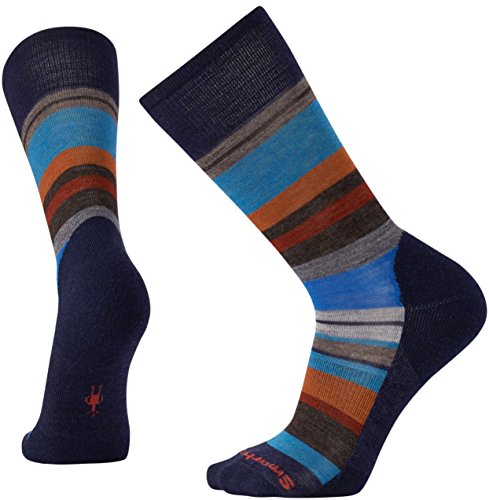 Smartwool Herren Saturnsphere Sock Saturnsphere, Blau (Deep Navy/Cardaomon), Large (Herste Preisvergleich