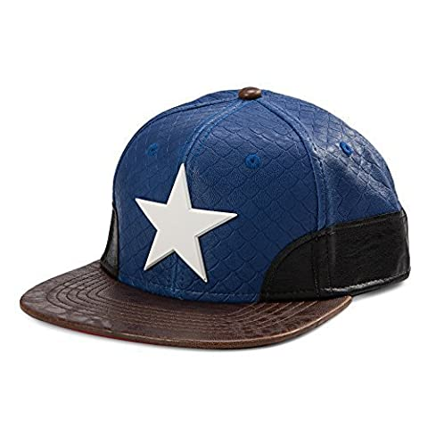 Marvel- Avengers- Captain America Snapback Metal Emblem Hat- Faux Leather by Bioworld