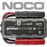NOCO Boost HD GB70 2000 Amperios 12V UltraSafe Litio Arrancador de Batería de Coche para hasta 8L de Gasolina y 6L Diesel Motores, Negro, Rojo