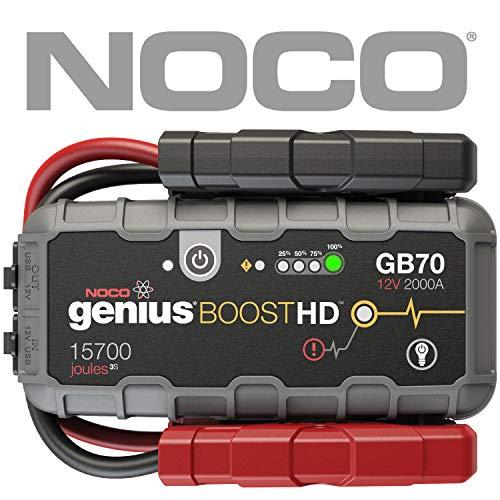 NOCO Boost HD GB70 2000 Amp 12V UltraSafe Lithium Avviatore di Emergenza al Litio Benzina 8L e Motori Diesel Fino a 6L