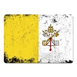 Tappetino per mouse bandiera Vaticano città colori retrò