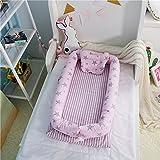 Pueri Cuddle Nid d'Ange Lit pour Bébé Linge de lit bébé Bébé nid Lounger pour landaus, poussettes ou lits bébé avec pare-chocs (Ciel étoilé - Rose)