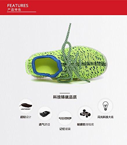 Sneakers Laden Mode 37 Kinder Led Kokosnuss Outdoor Blinken jojo Für 25 Neue Eu Farbe Grüne Unisex Laufschuhe jayce Usb YECvqTT