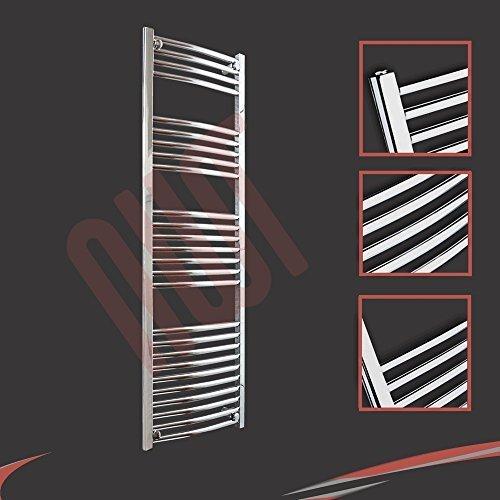 400mm (w) x 1400mm (h) - Radiateur sèche-serviettes incurvé chromé Barre Horizontale Diamètre: 22mm, Bar Modèle: 4 + 5 + 7 + 10