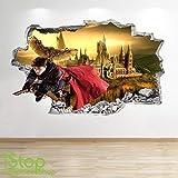 1Stop Graphics Shop Harry Potter Autocollant Mural 3D Look - Chambre Enfants Poudlard Autocollant Mural Z587 - Large: 70 cm x 111 cm