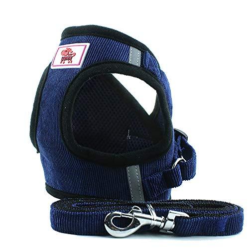 Balock Schuhe Haustierzugseil Cord Netzweste,Einstellbare Haustier Katze Hundeleine Hund,Brustgurt Hund Brustgurt Gürtel,für alle alltäglichen und sportlichen Aktivitäten dem Vierbeiner (Blau, XS) -