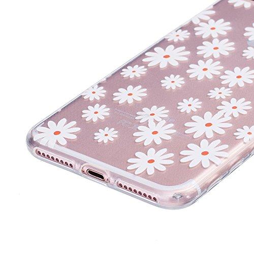 Voguecase® für Apple iPhone 7 4.7 hülle, Schutzhülle / Case / Cover / Hülle / TPU Gel Skin (Lace Blume) + Gratis Universal Eingabestift Kleine Gänseblümchen 05